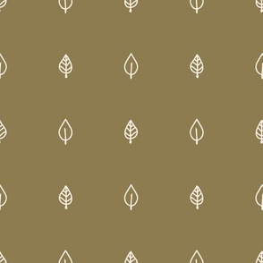 Seamless background two leaf gender neutral baby pattern.