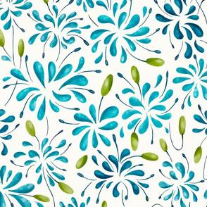 Splash Flowers - Blue