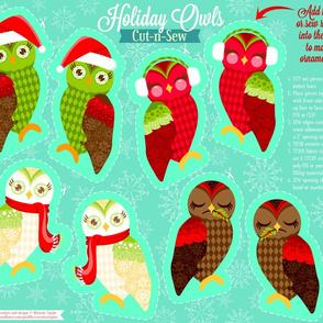 Cut N Sew Holiday Owls