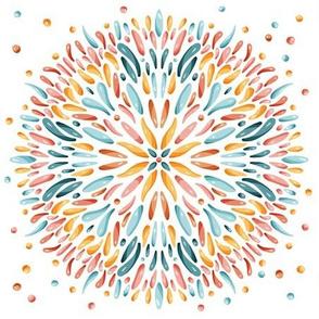 Joy Mandala - colorful palette