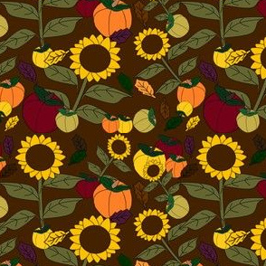 Fall Sunflower Fabric