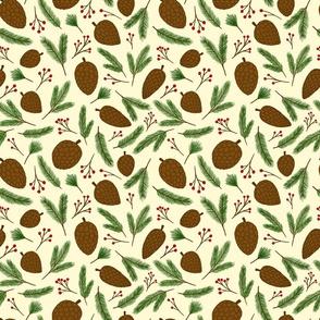 Pinecones on Cream