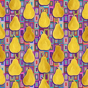 Golden Pears and Psychedelic Rectangles small