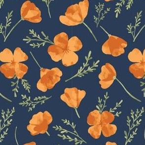 Watercolor Golden Poppies