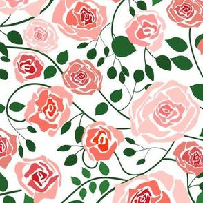 (M) Climbing Roses Twisting Vines - Medium