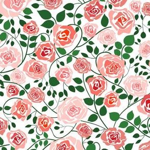 (L) Climbing Roses Twisting Vines - Large