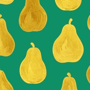 Golden Pears Green