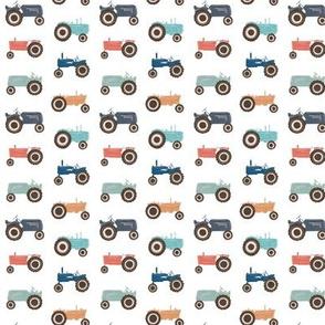 Vintage tractors - microscale