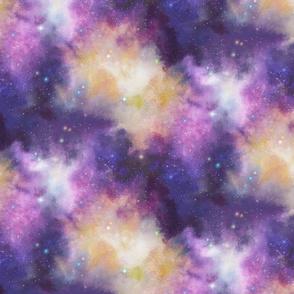 Watercolor Nebula Galaxy Space