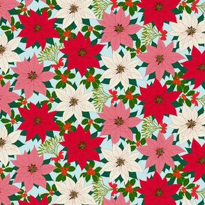 maximalist holiday flowers
