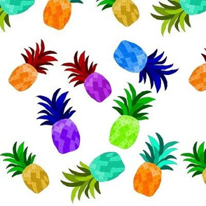Busy Colorful Pineapples