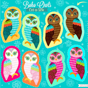 Cut N Sew Boho Owls