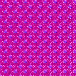 Medium magenta dots triple berries
