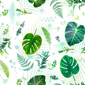 Tropical Plants Leaves - LG