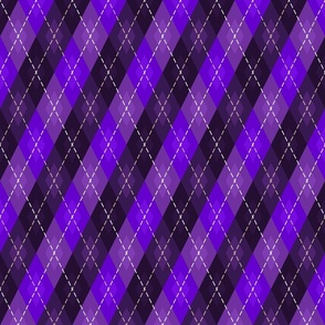 All Purple Argyle