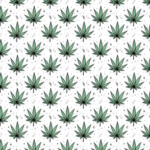 Mask small scale / cartoon cannabis leaves
