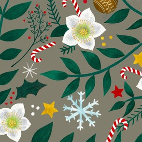 Christmas Garlands - on clay