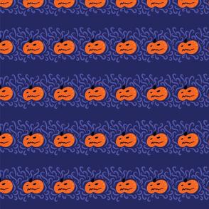 halloween pumpkins on purple by rysunki_malunki