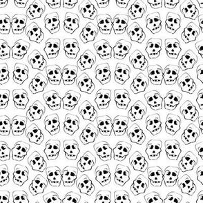 halloween black and white skulls by rysunki_malunki