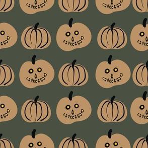 pumpkin lanterns on halloween by rysunki_malunki