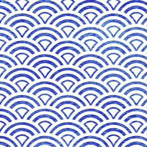Blue Seigaiha