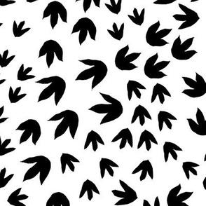 Dinosaur Footprints black and white