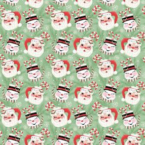 Santa and Snowman Mugs