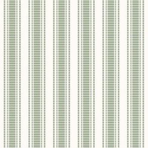 "Grosgrain Stripe: Sage Green & Cream 3/4"" Stripe"
