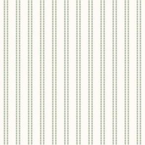 Seeded Stripe: Sage Green Thin Stripe, Double Stripe