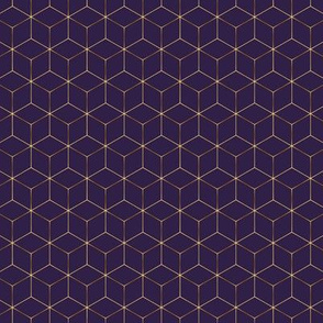 Purple & Gold Hexagons