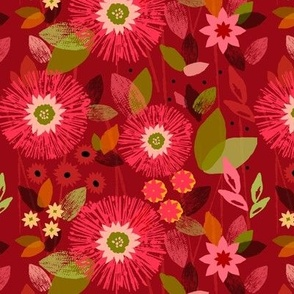 Florescent Holiday Floral