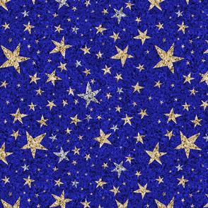silver and gold starry night