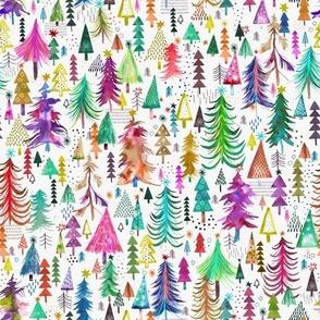 Colorful christmas trees Small