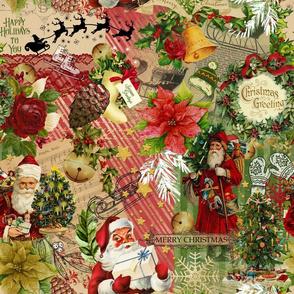 Vintage Christmas Collage