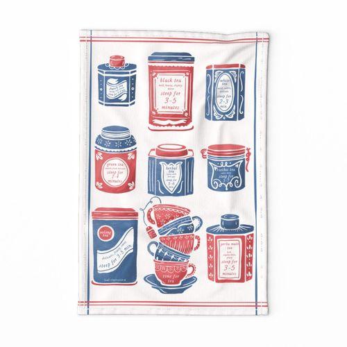 Lamb Illustration's Time for Tea Tea Towel