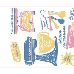Lamb Illustration's Kitchen Conversion Tea Towel