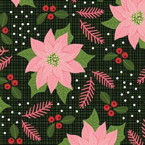 Maximalist Pink Poinsettia - Large Scale 12in.