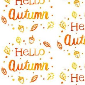 Hello Autumn Watercolor