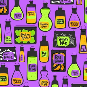 Witch's Potions (Purple)