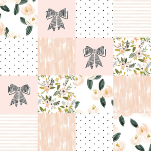 """6"""" patchwork wholecloth: blush, pink, olive"""
