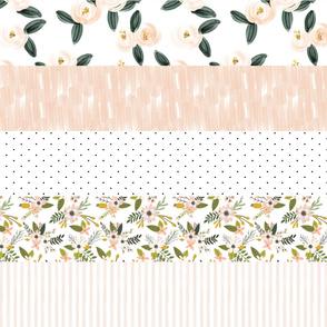"6"" stripe wholecloth: blush, pink, olive"