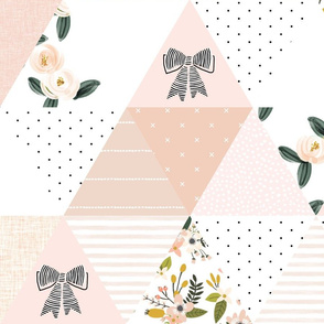 """6"""" triangle wholecloth: blush, pink, olive"""