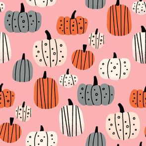 Pumpkin Patch on Pink