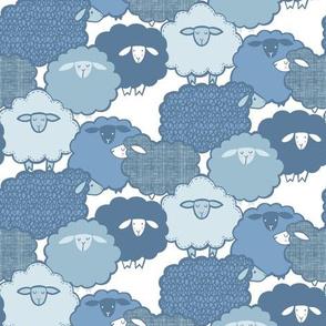 sheep Shape BLUE (small)
