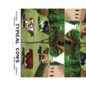 Types of Cows vintage reproduction