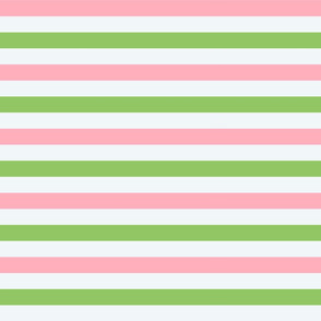Pink and Green Stripes