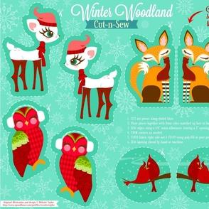 Cut N Sew Winter Woodland Animals