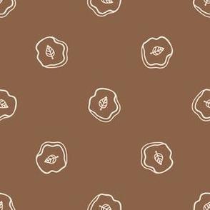 Seamless background dinosaur leaf fossil gender neutral baby pattern.