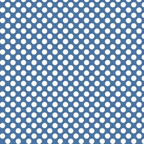 polka dots blue, tiny scale