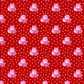 Grande red dots triple berries